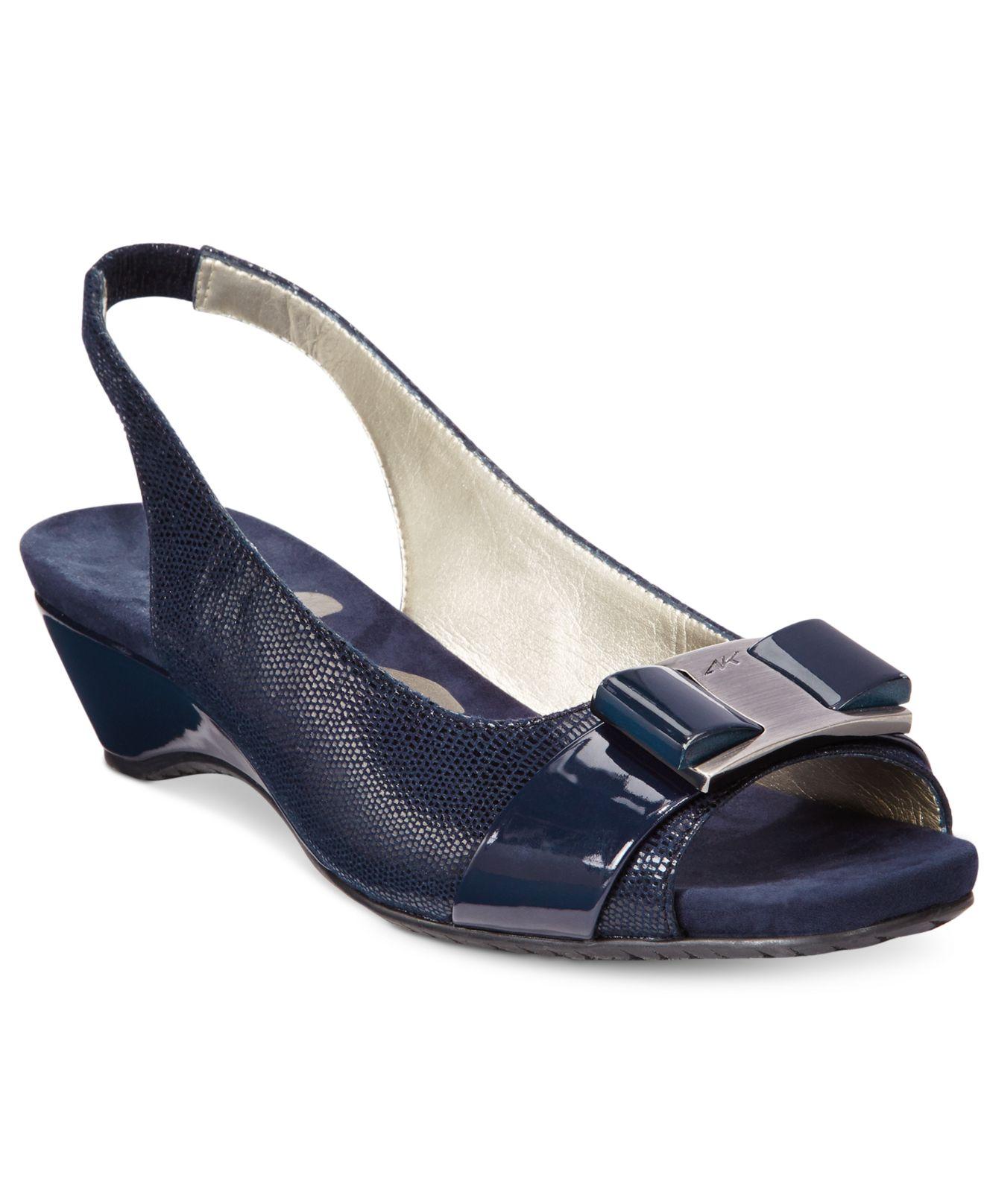 Anne Klein Harlee Dress Sandals in Navy