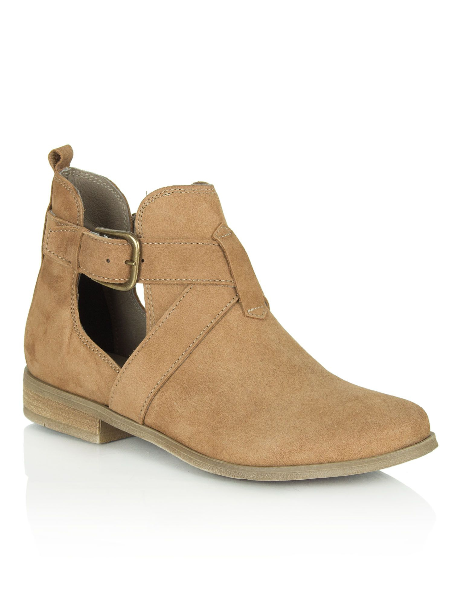 daniel east cut out side ankle boots in brown lyst