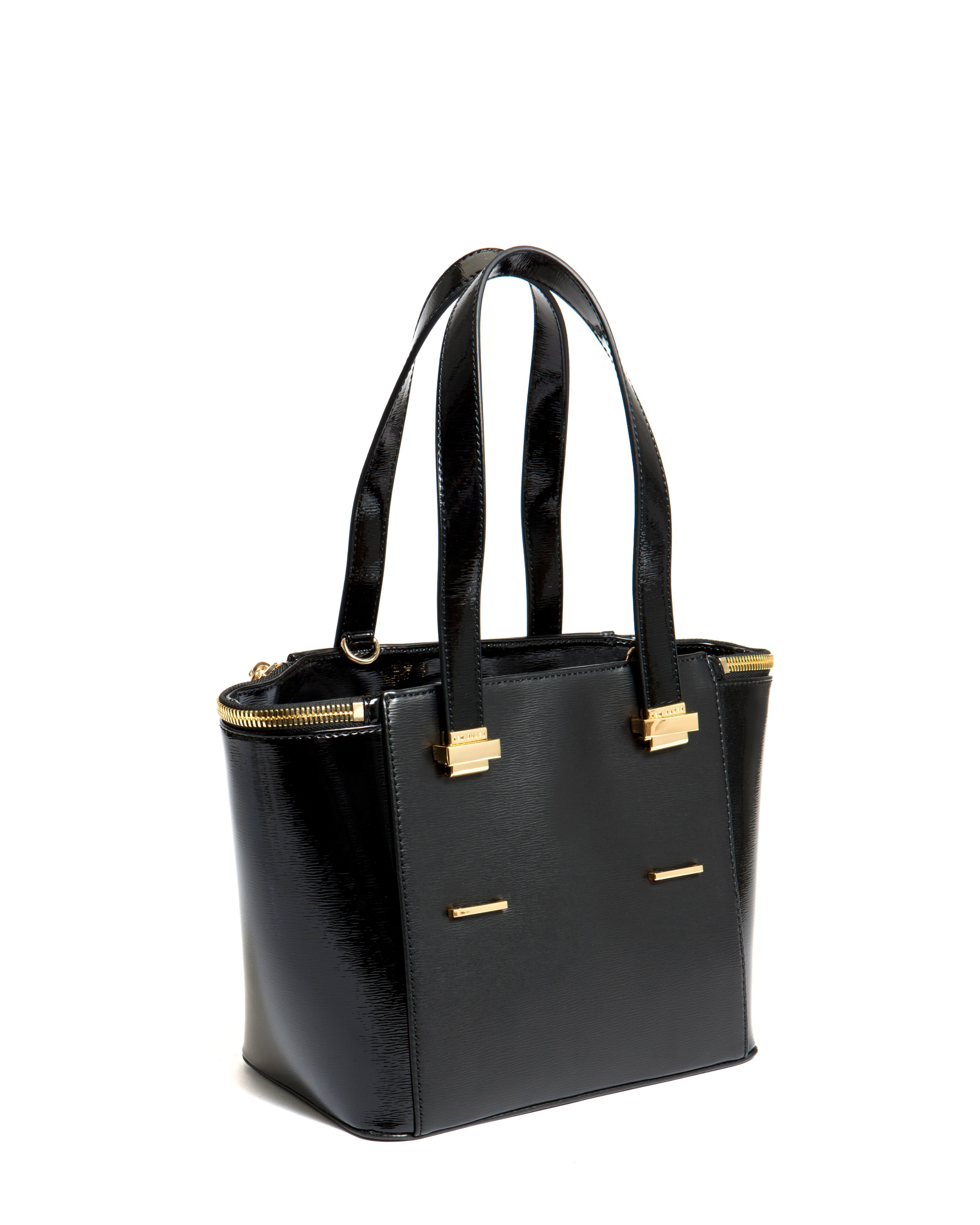Ted Baker Marena Small Crosshatch Tote Bag In Black Lyst