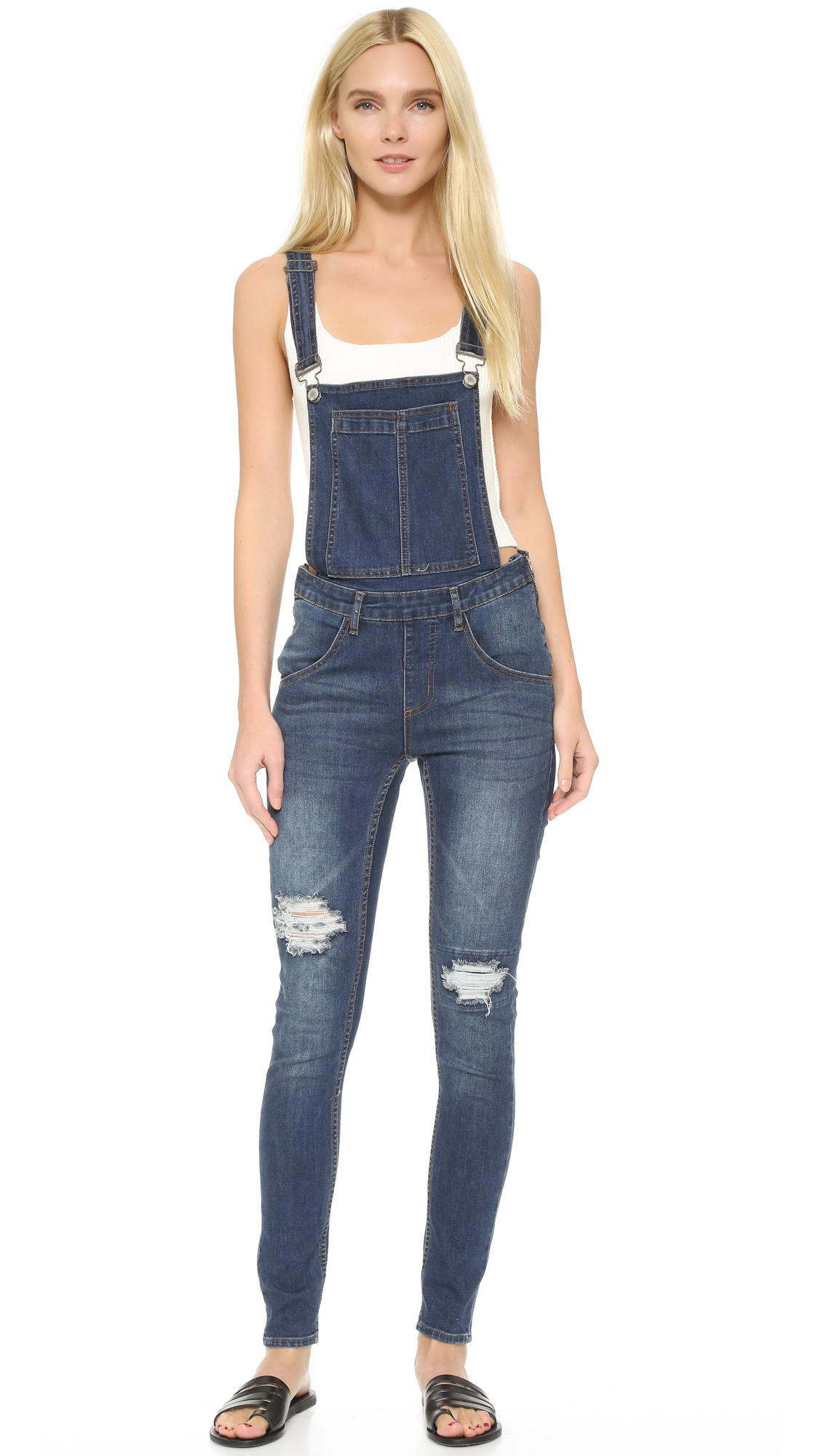 Lyst - Cheap Monday Carbon Blue Dungaree Overalls in Blue