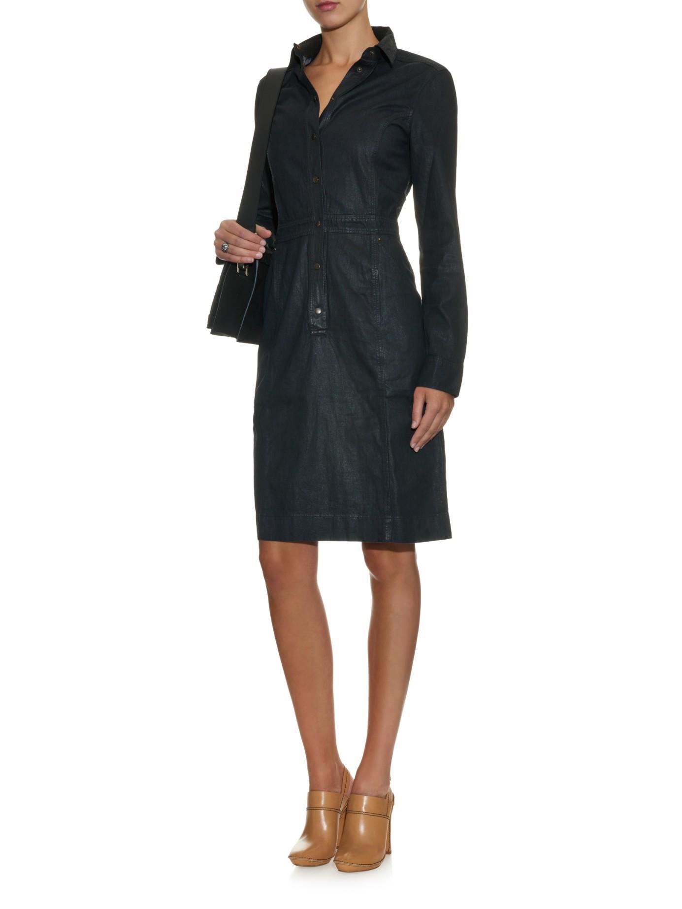 comfort denim tunic dress - Blue Tomas Maier n0rSP1HSX