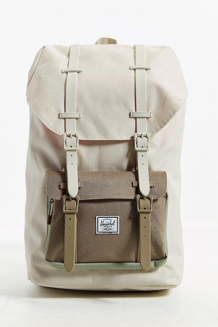 herschel supply co little america weather backpack in beige for men neutral multi lyst. Black Bedroom Furniture Sets. Home Design Ideas
