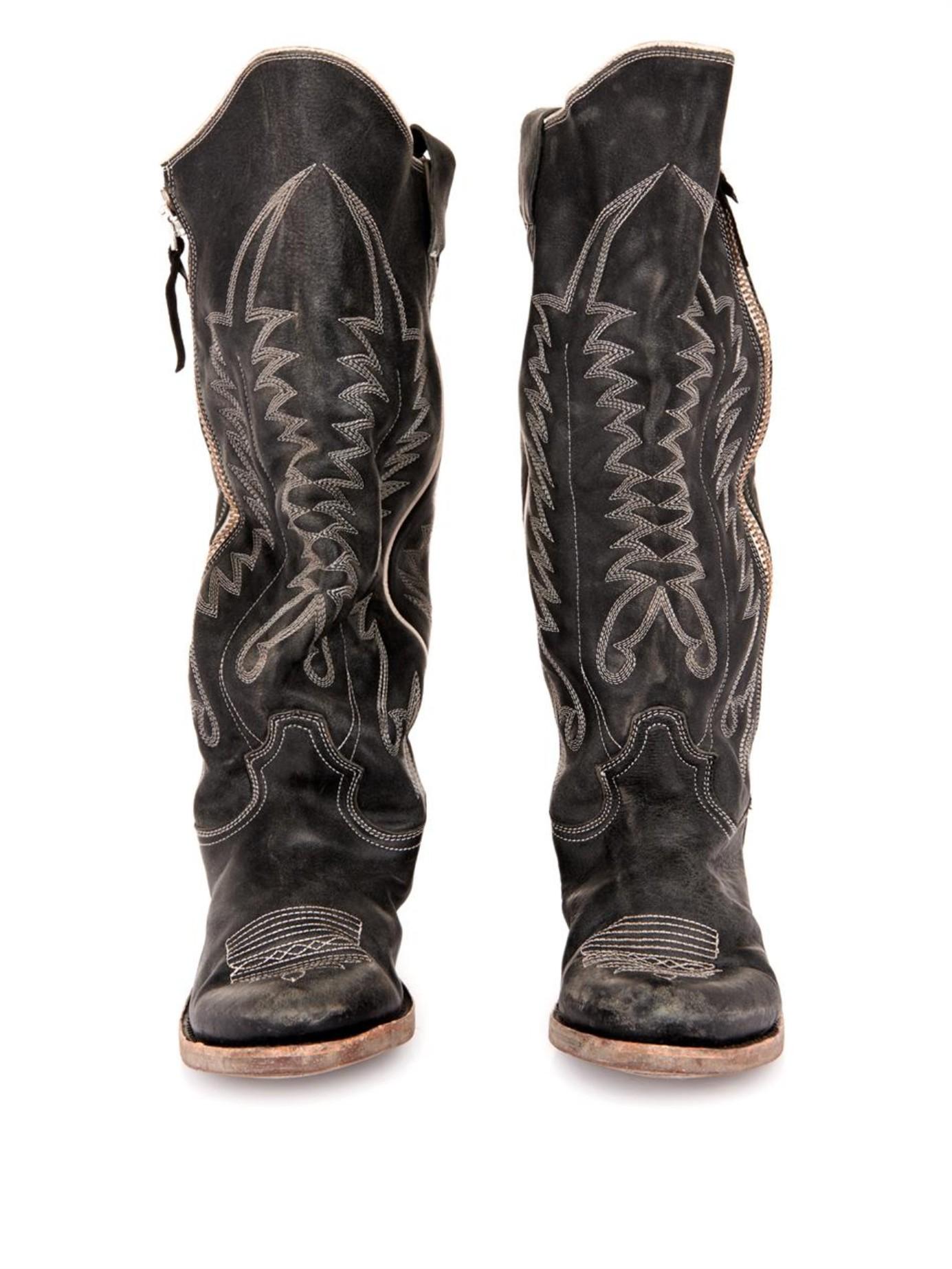 Golden Goose Leather Knee Boots discount footlocker RBdxyvoJyk