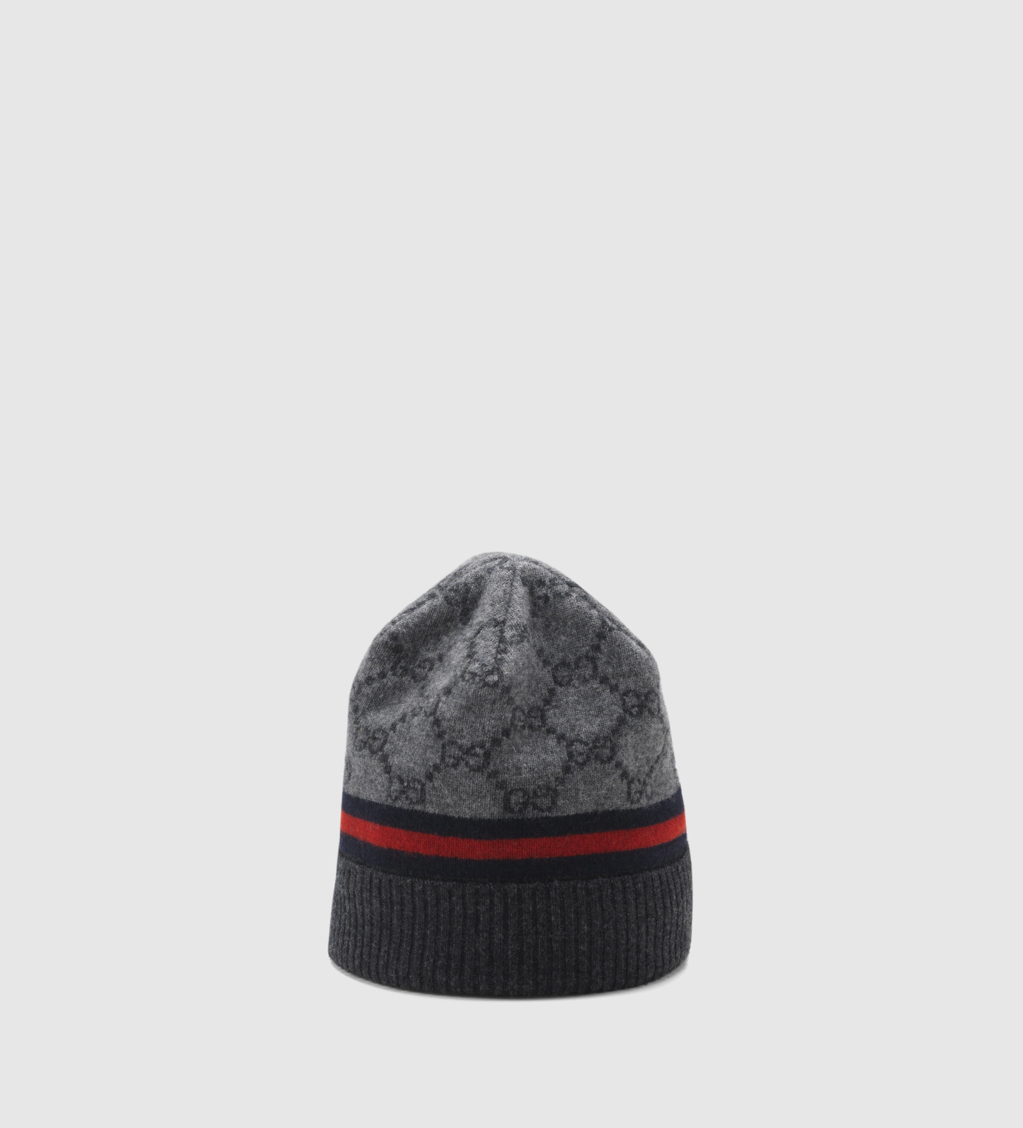 Gucci Gg Pattern Hat With Web Detail in Gray for Men - Lyst 1a82a54c44c