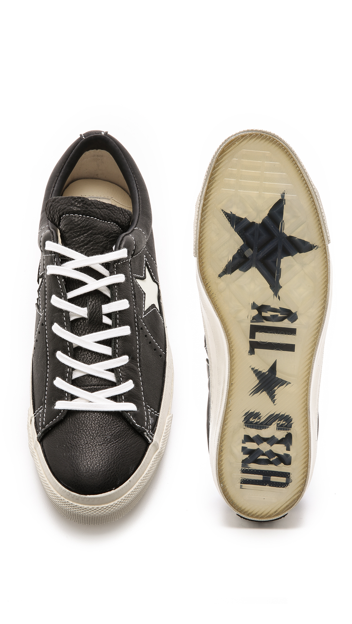 Distressed Converse Shoes