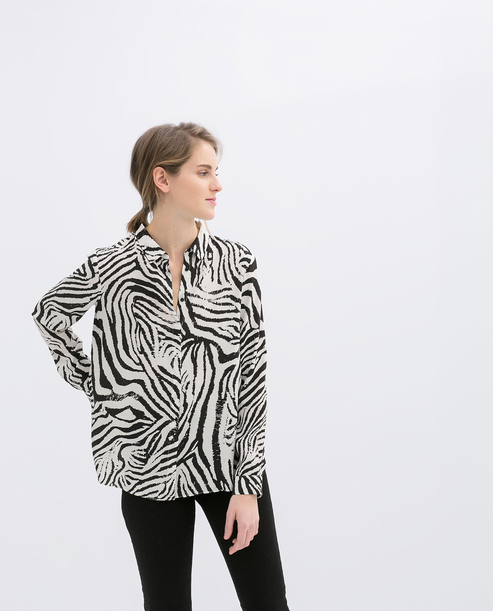 Zara Zebra Print Blouse 111