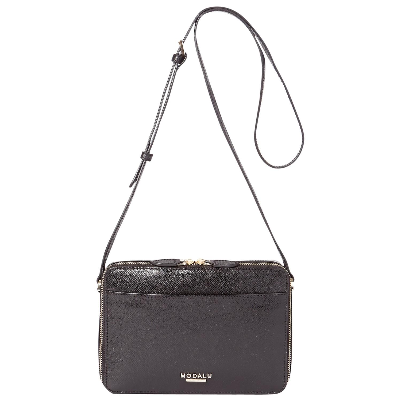 Modalu Leather Harrogate Crossbody Bag in Black