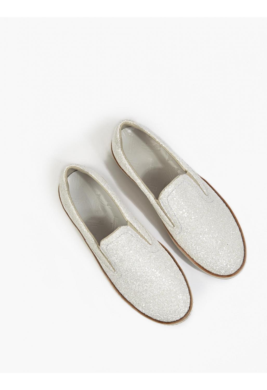 Maison margiela 22 men s white glitter slip on sneakers for Maison margiela 22