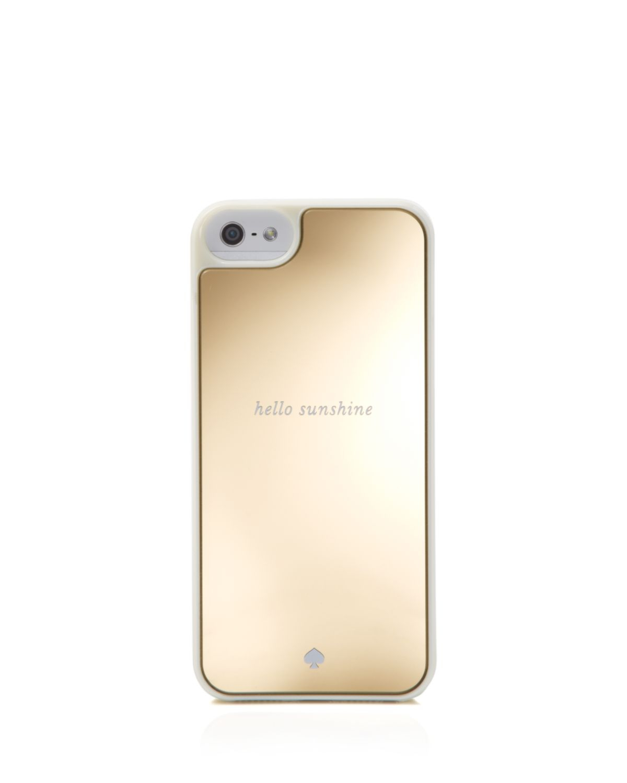promo code 688cf 3e78b kate spade new york Metallic Iphone 5/5S Case - Resin Hello Sunshine