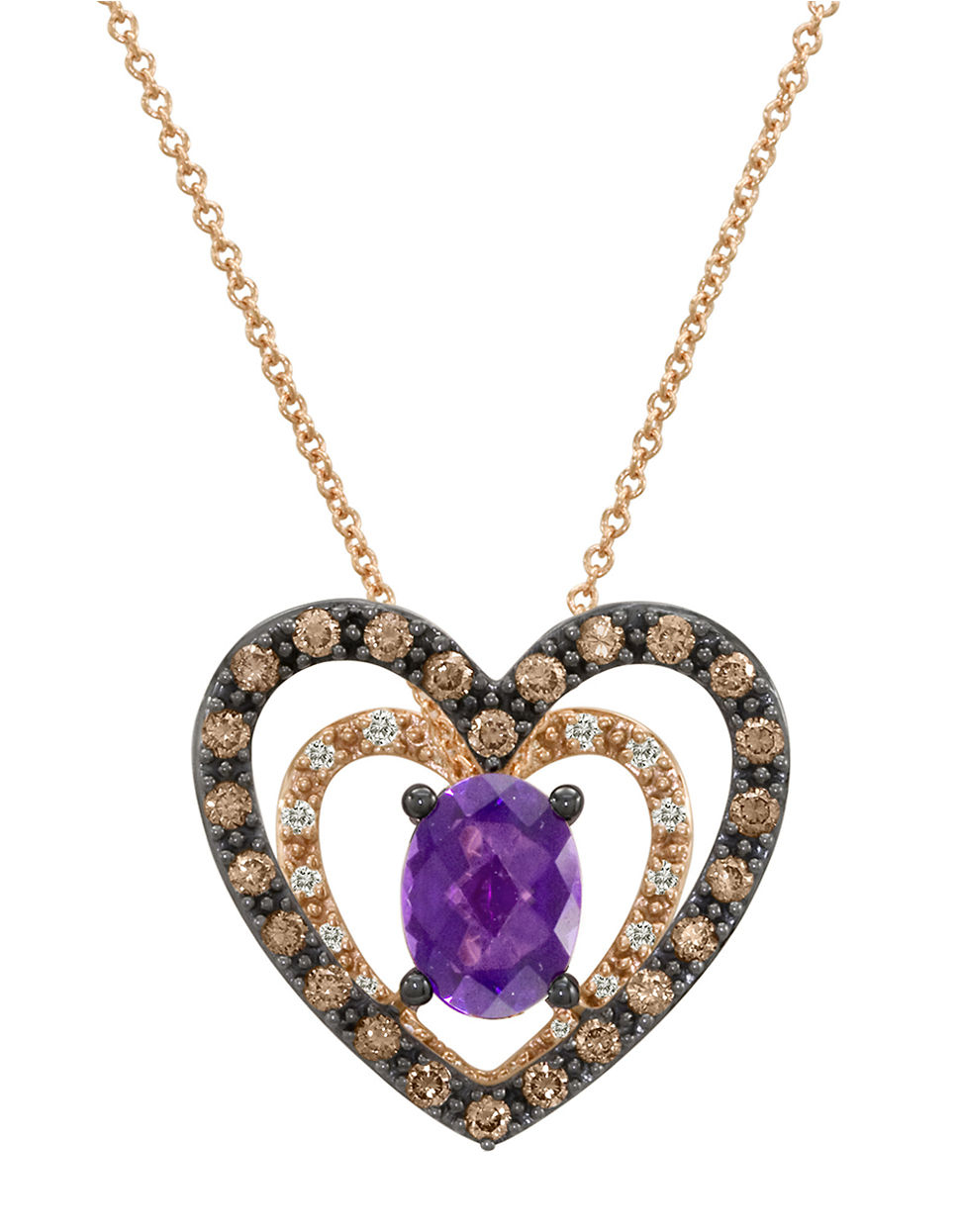 le vian 14k gold and amethyst pendant necklace