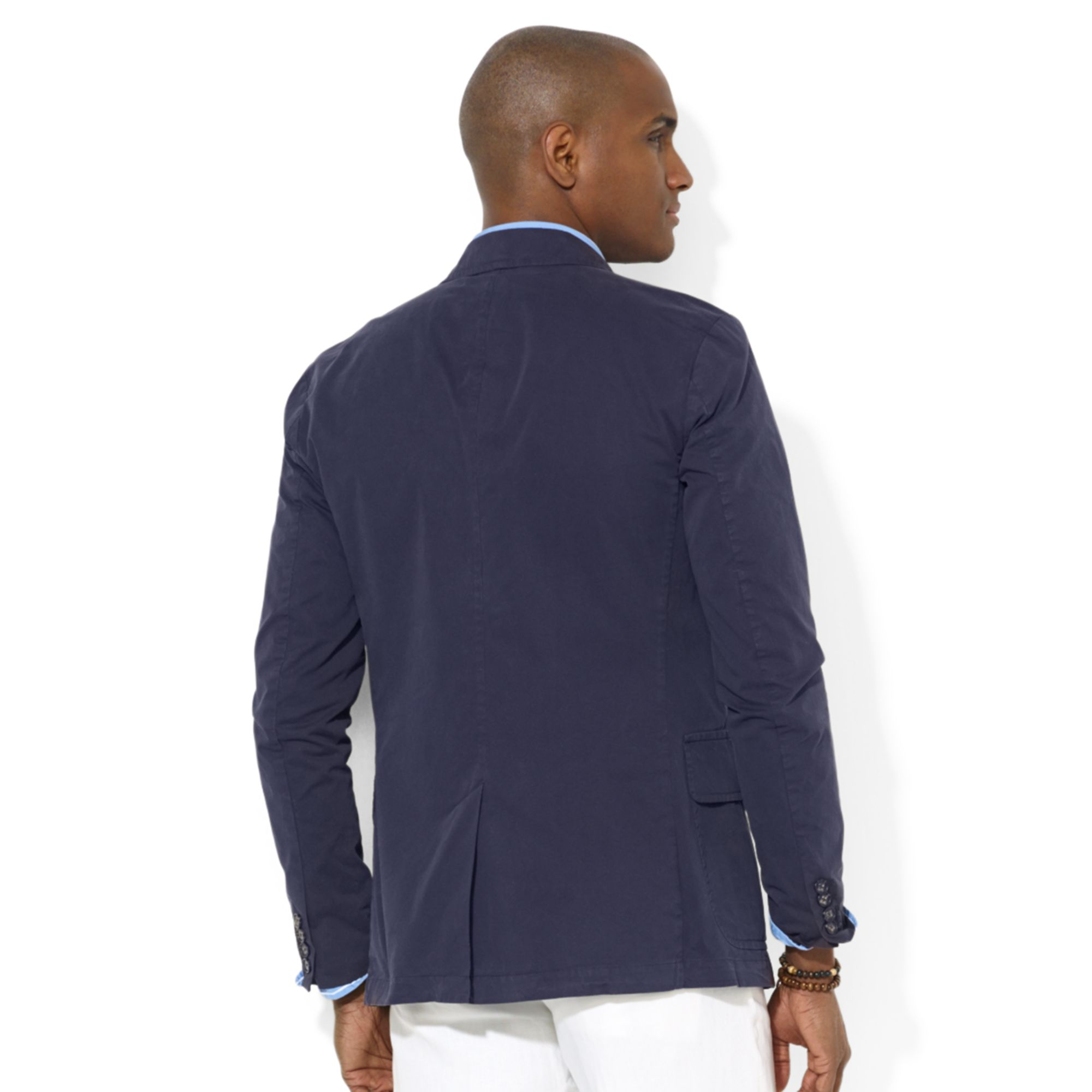 ralph lauren polo hampton chino sport coat in blue for men lyst. Black Bedroom Furniture Sets. Home Design Ideas
