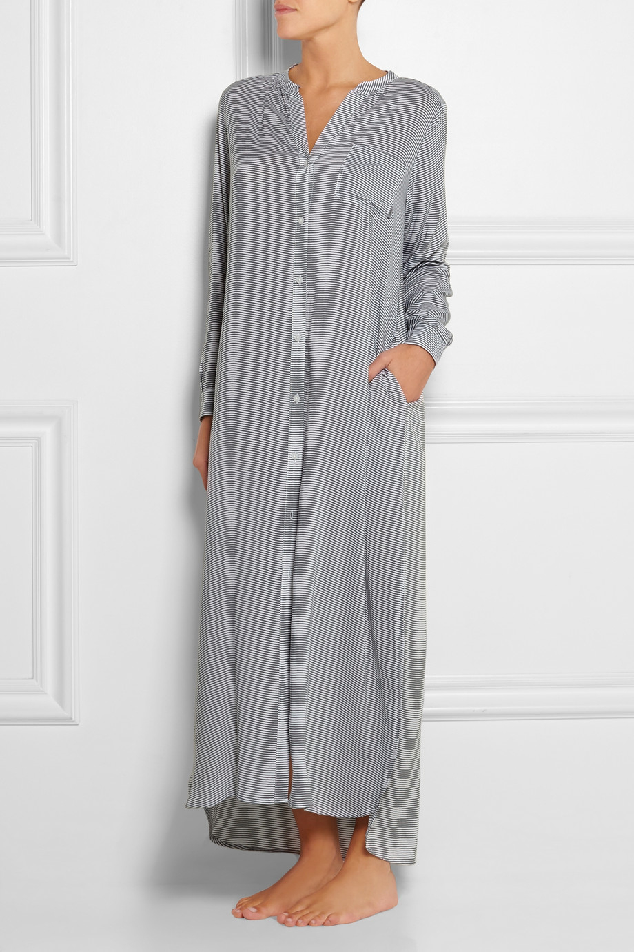 Dkny Rooftop Gardener Striped Voile