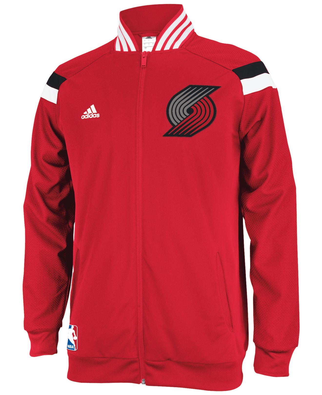 Portland Blazers Clothing: Adidas Men'S Portland Trail Blazers On-Court Jacket