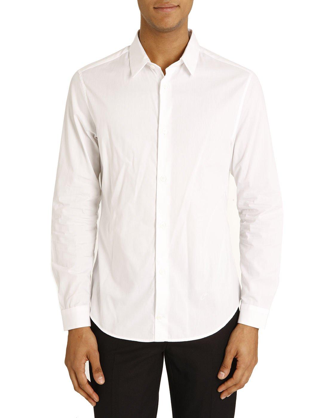 Carven white poplin shirt in white for men lyst for What is a poplin shirt