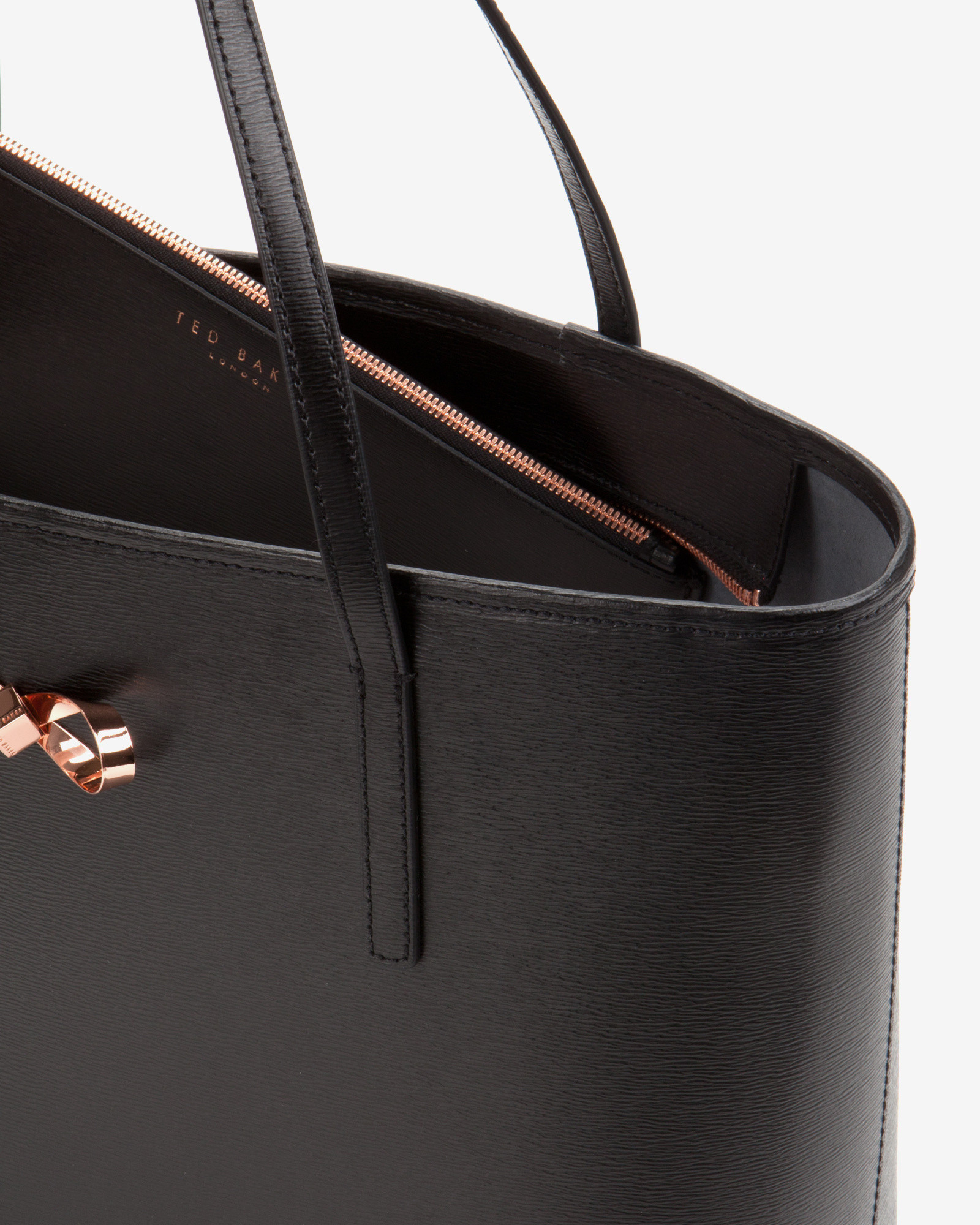 a8fea9ed60 Bow detail leather shopper bag Dark Green Bags Ted Baker