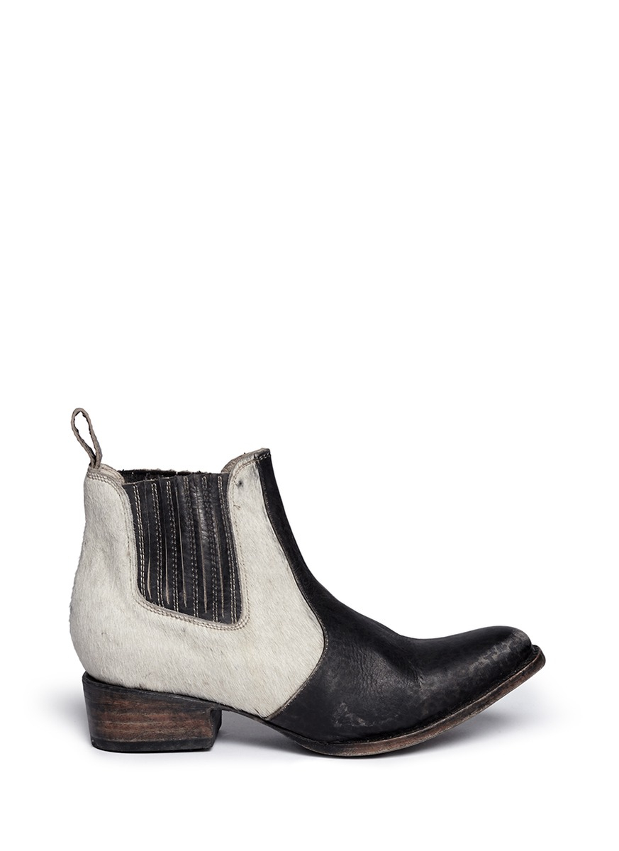Lyst Freebird Lasso Calf Hair Distressed Leather