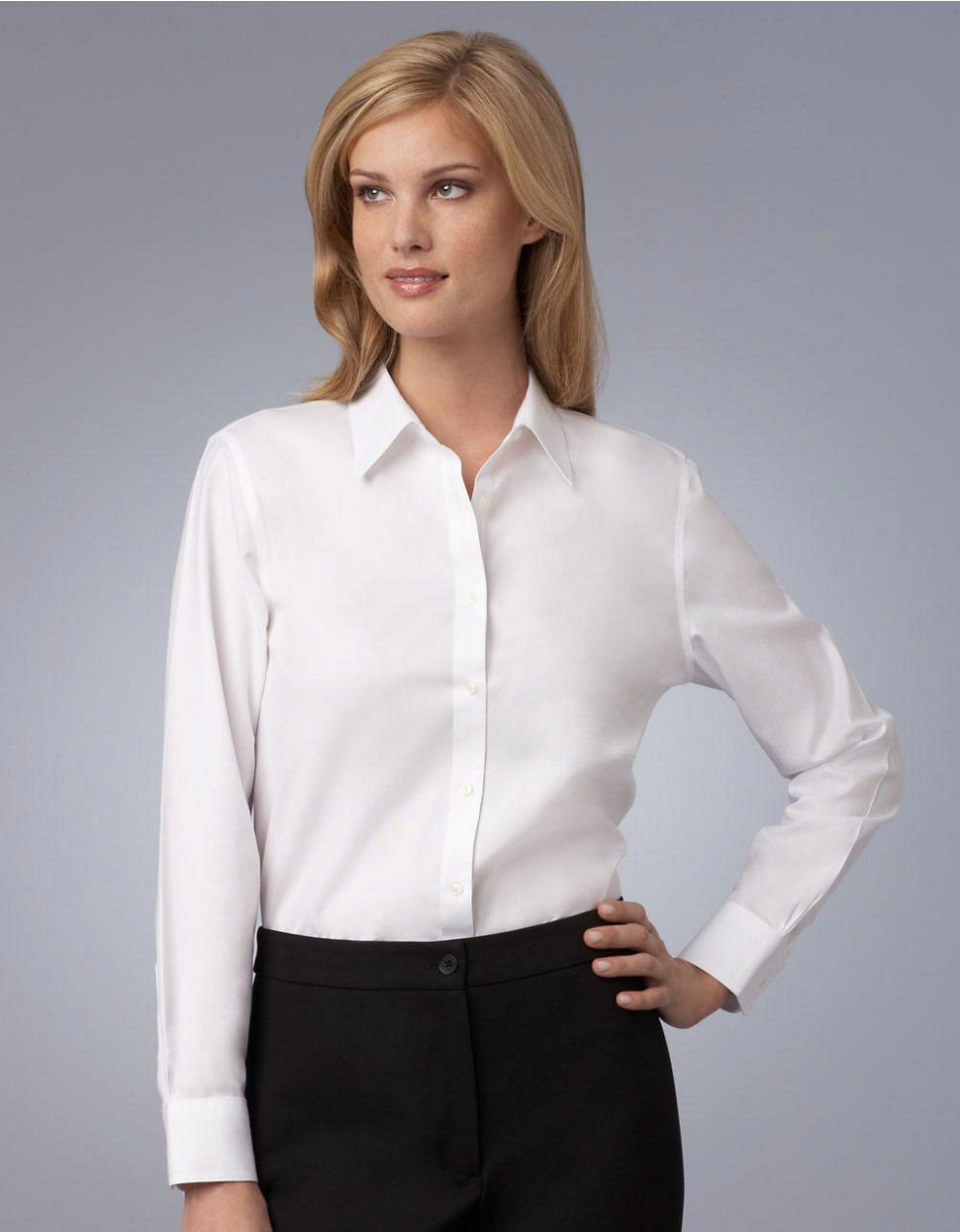 Jones new york white easy care non iron shirt in white lyst for New york and company dress shirts