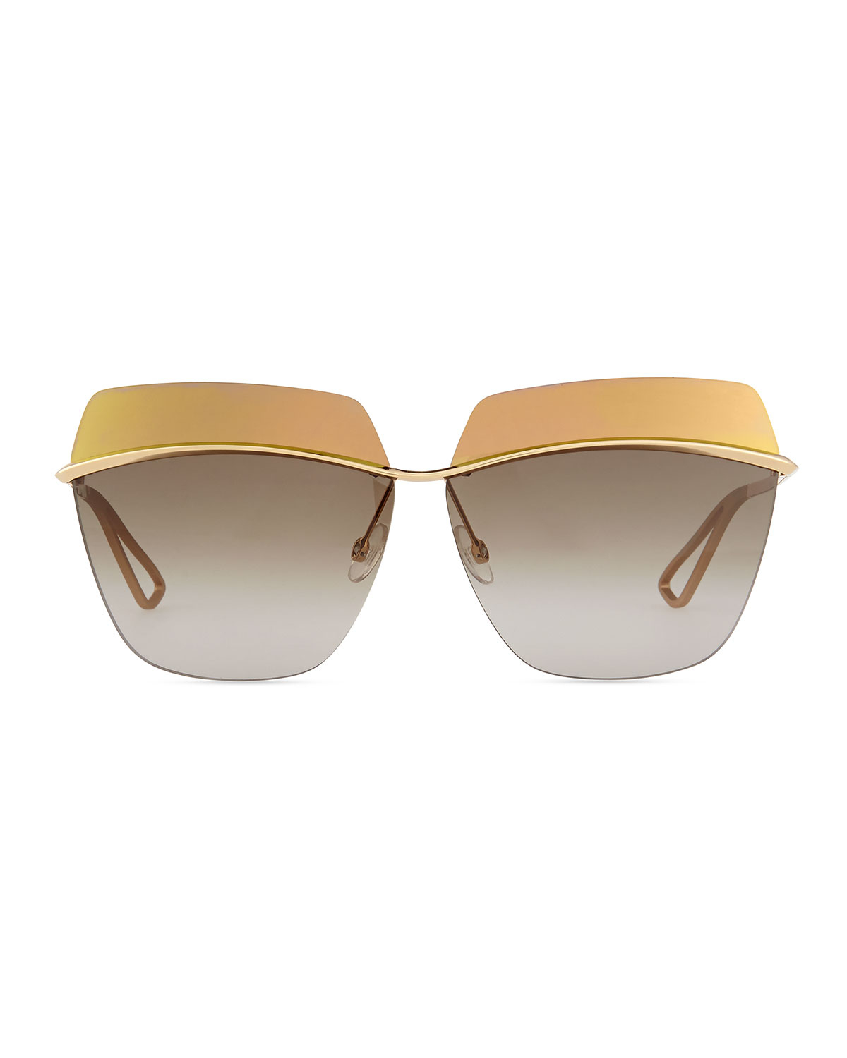 d5250726a51 Lyst - Dior Metallic Colorblock-Lens Sunglasses in Yellow
