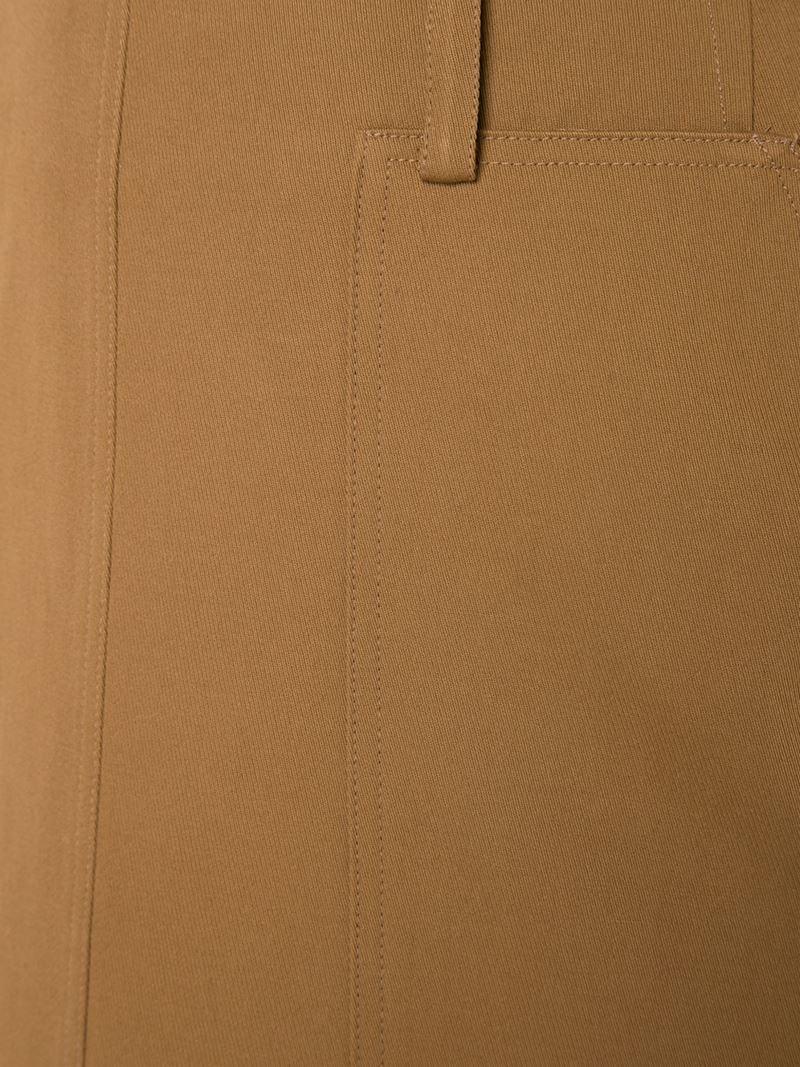 Believe brown straight skirt