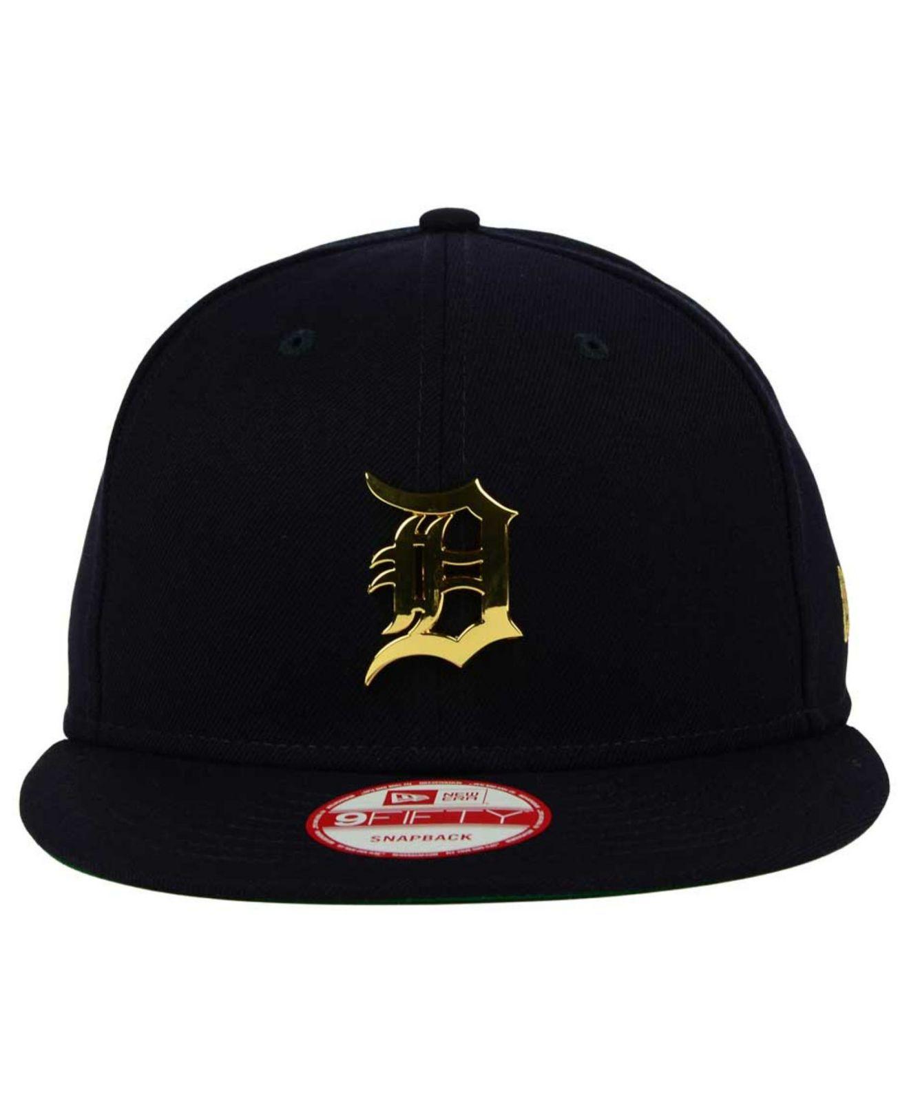 9033565f KTZ Blue Detroit Tigers League O'gold 9fifty Snapback Cap for men