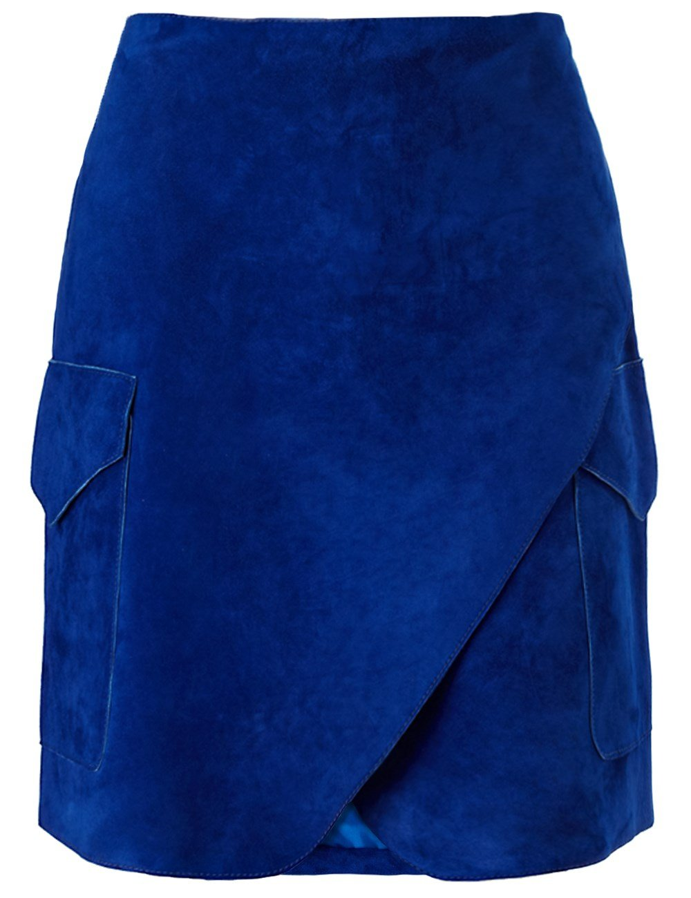 derek lam cobalt suede wrap skirt in blue lyst