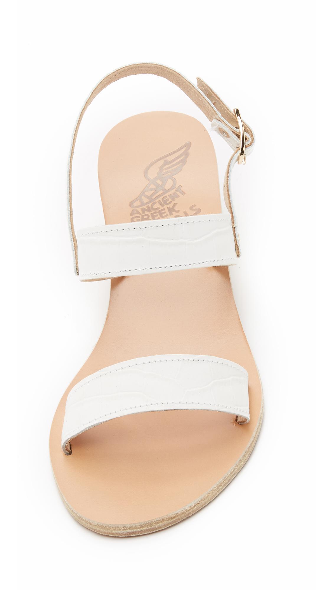 14dfbca4ec6 Lyst - Ancient Greek Sandals Clio Wedge Sandals - White in White
