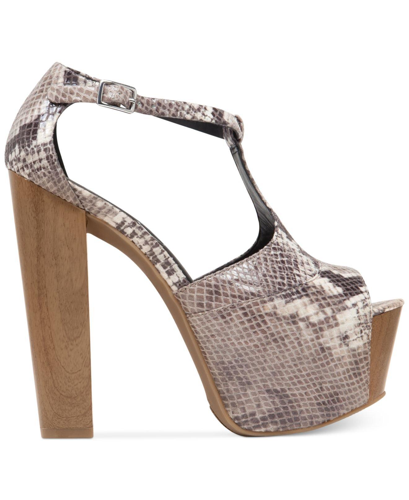 585261bada5 Jessica Simpson Brown Dany T-Strap Platform Sandals