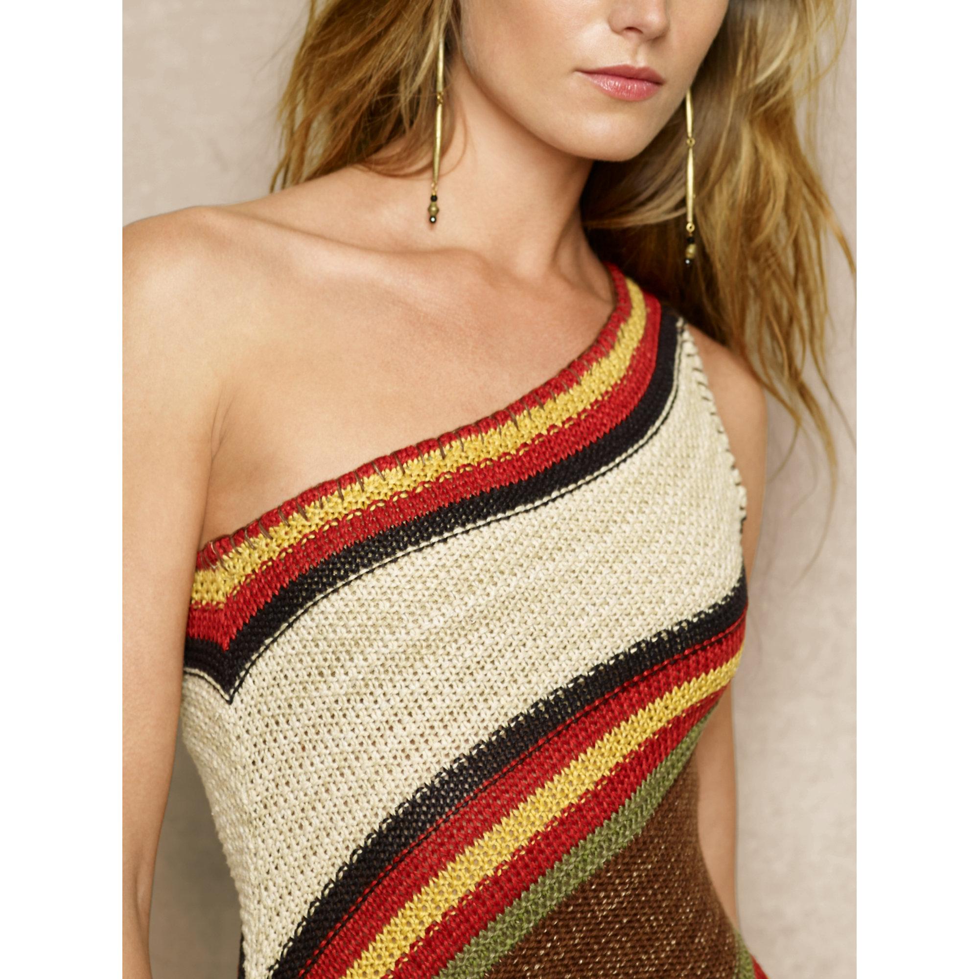 lyst ralph lauren one shoulder sweater dress. Black Bedroom Furniture Sets. Home Design Ideas