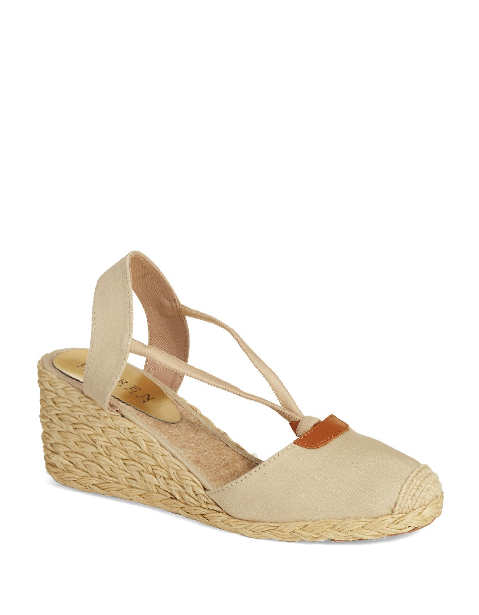 lauren by ralph lauren cala espadrille wedges in natural lyst. Black Bedroom Furniture Sets. Home Design Ideas