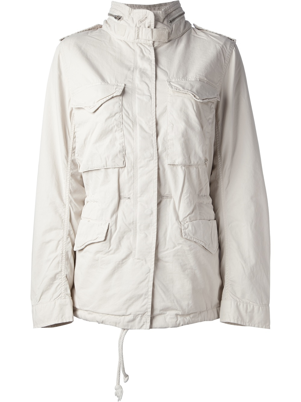 Lyst Ralph Lauren Flag Print Military Jacket In Natural