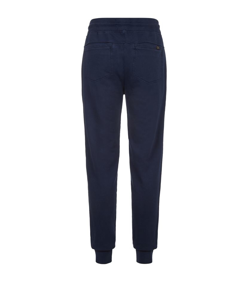 7 For All Mankind Cotton Zip Pocket Sweatpants in Blue for Men
