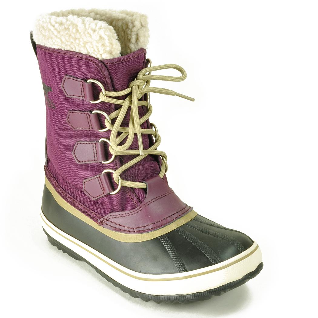 sorel waterproof boot in purple lyst