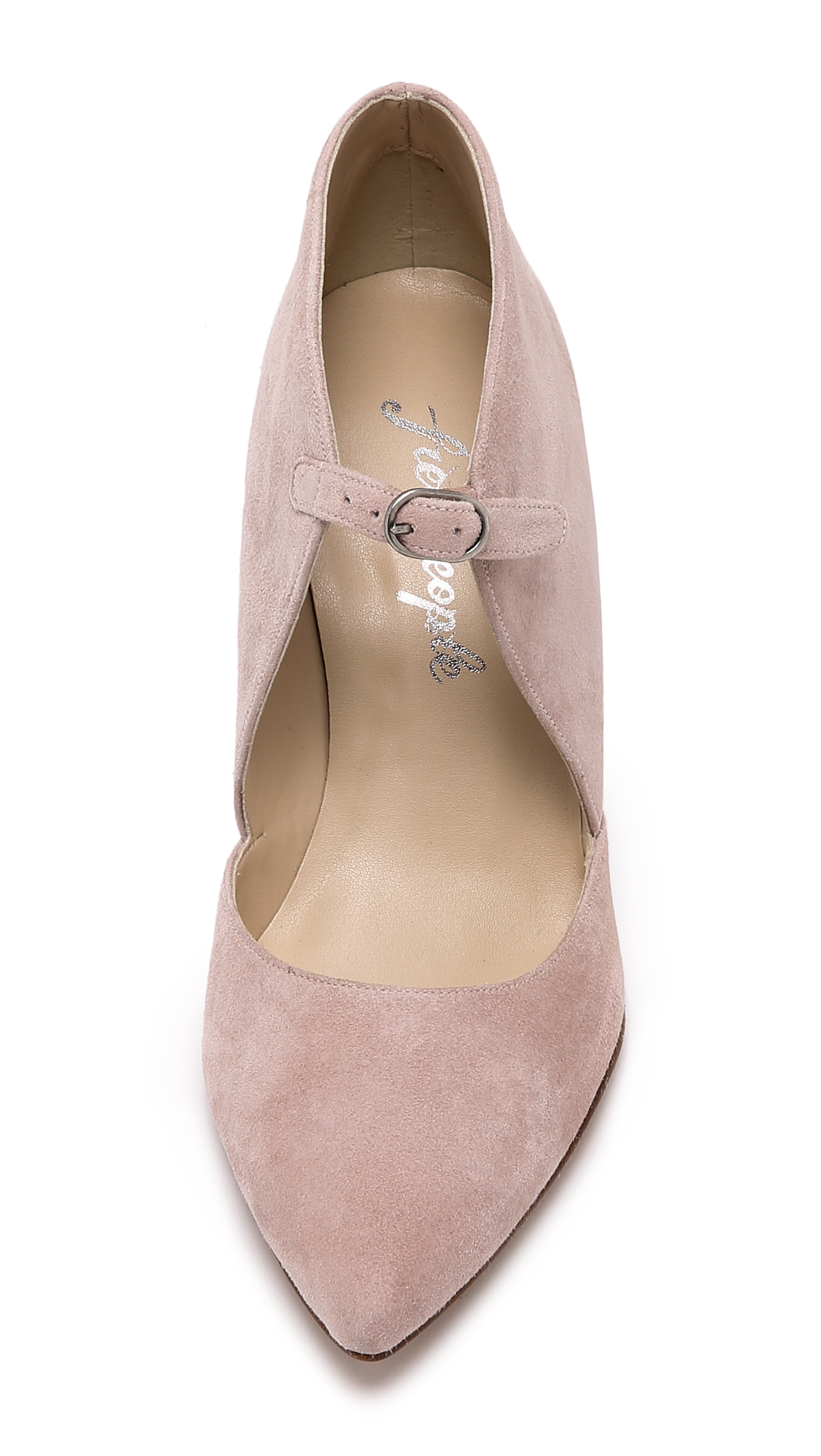Lyst Free People Cerow Heels Blush In Pink
