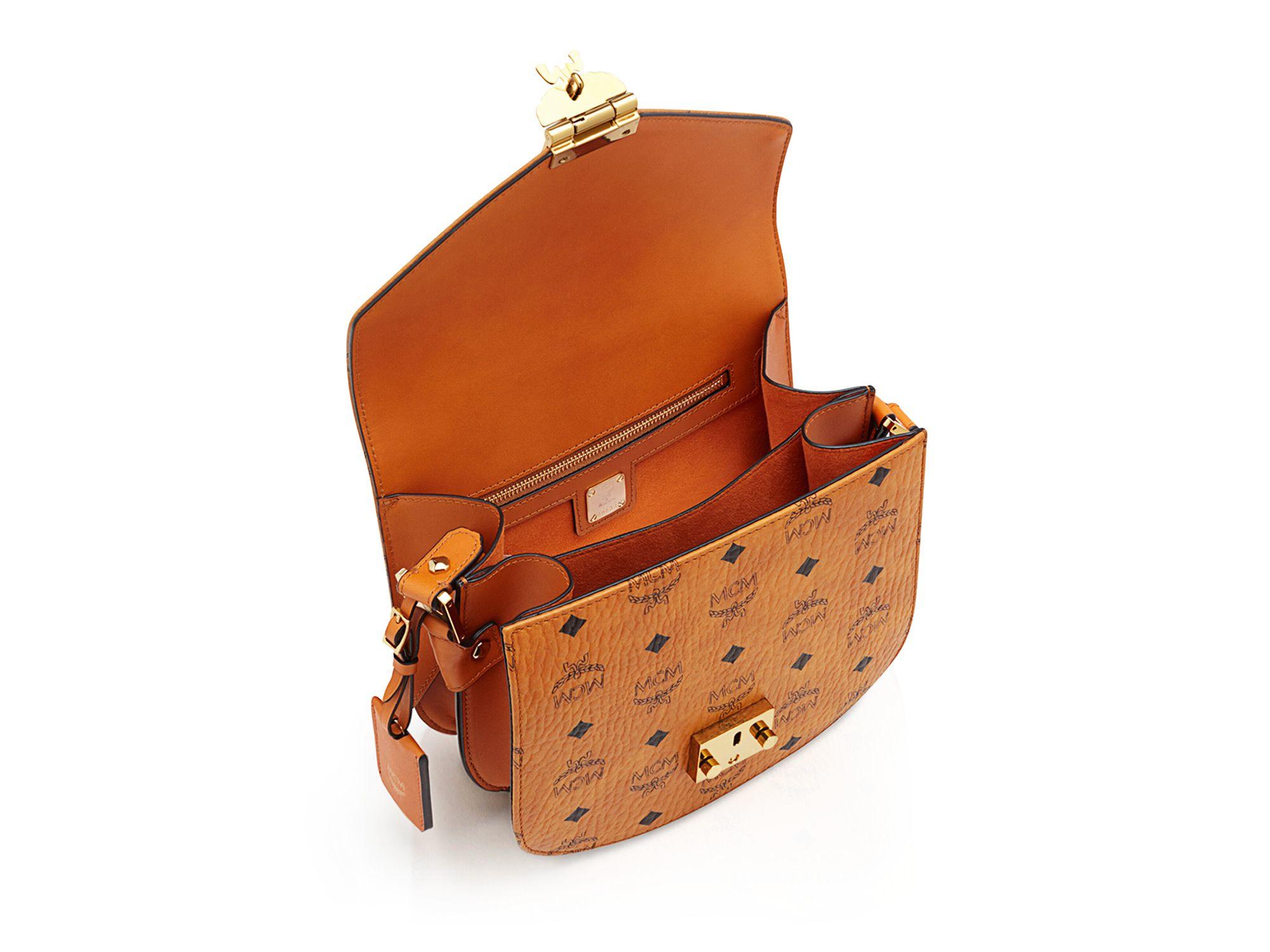 Lyst - MCM Patricia Visetos Shoulder Bag in Brown c3ee87e5f226b