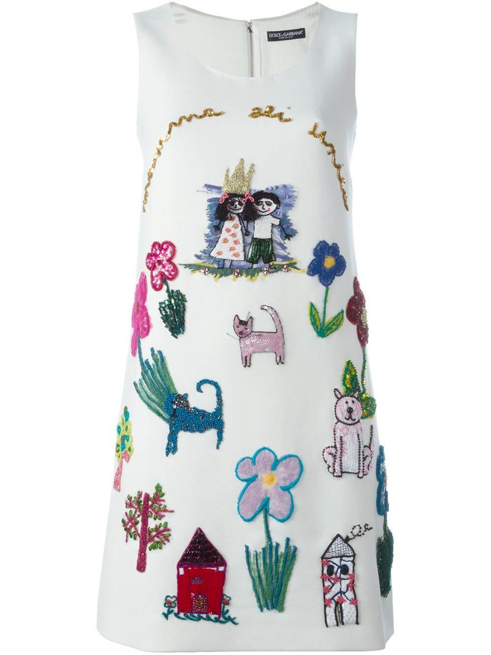 Lyst Dolce Amp Gabbana Children S Drawing Embroidered