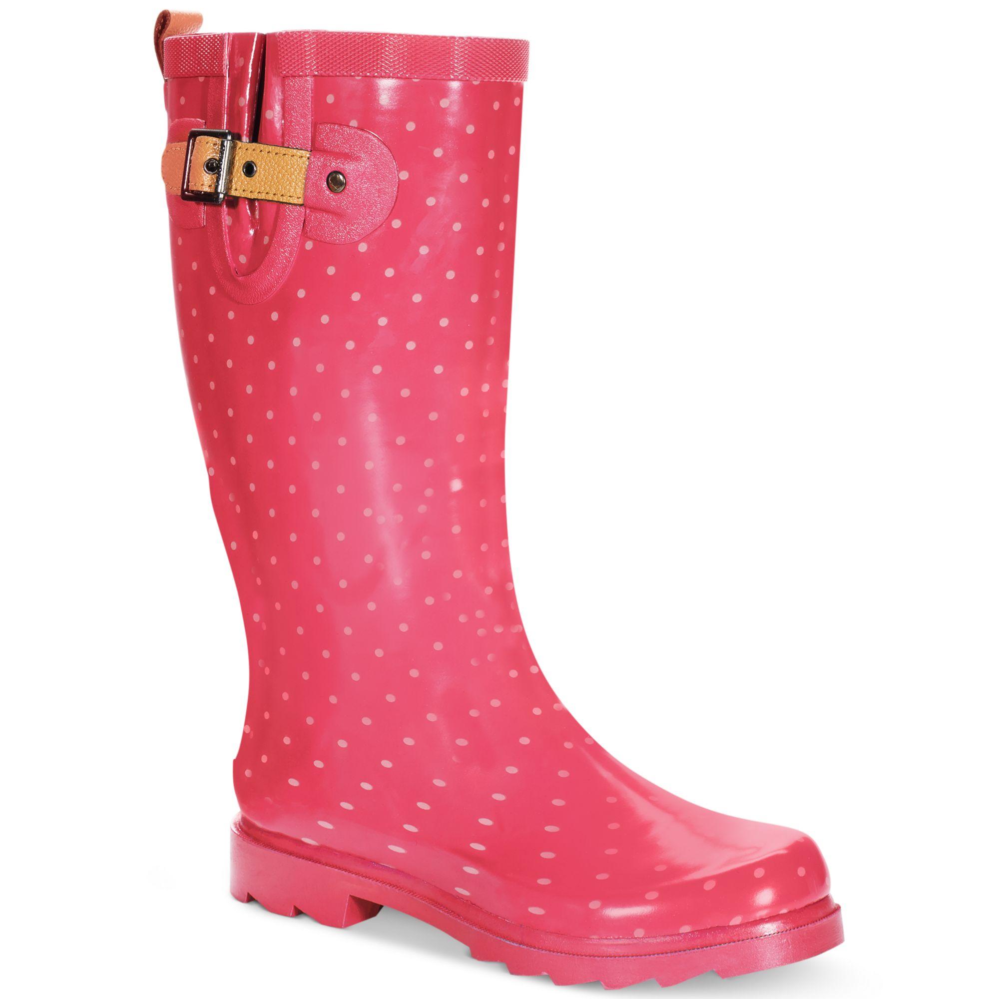 Original  Shoes Womens Boots Chooka Classic Dot Women Rubber Black Rain Boot
