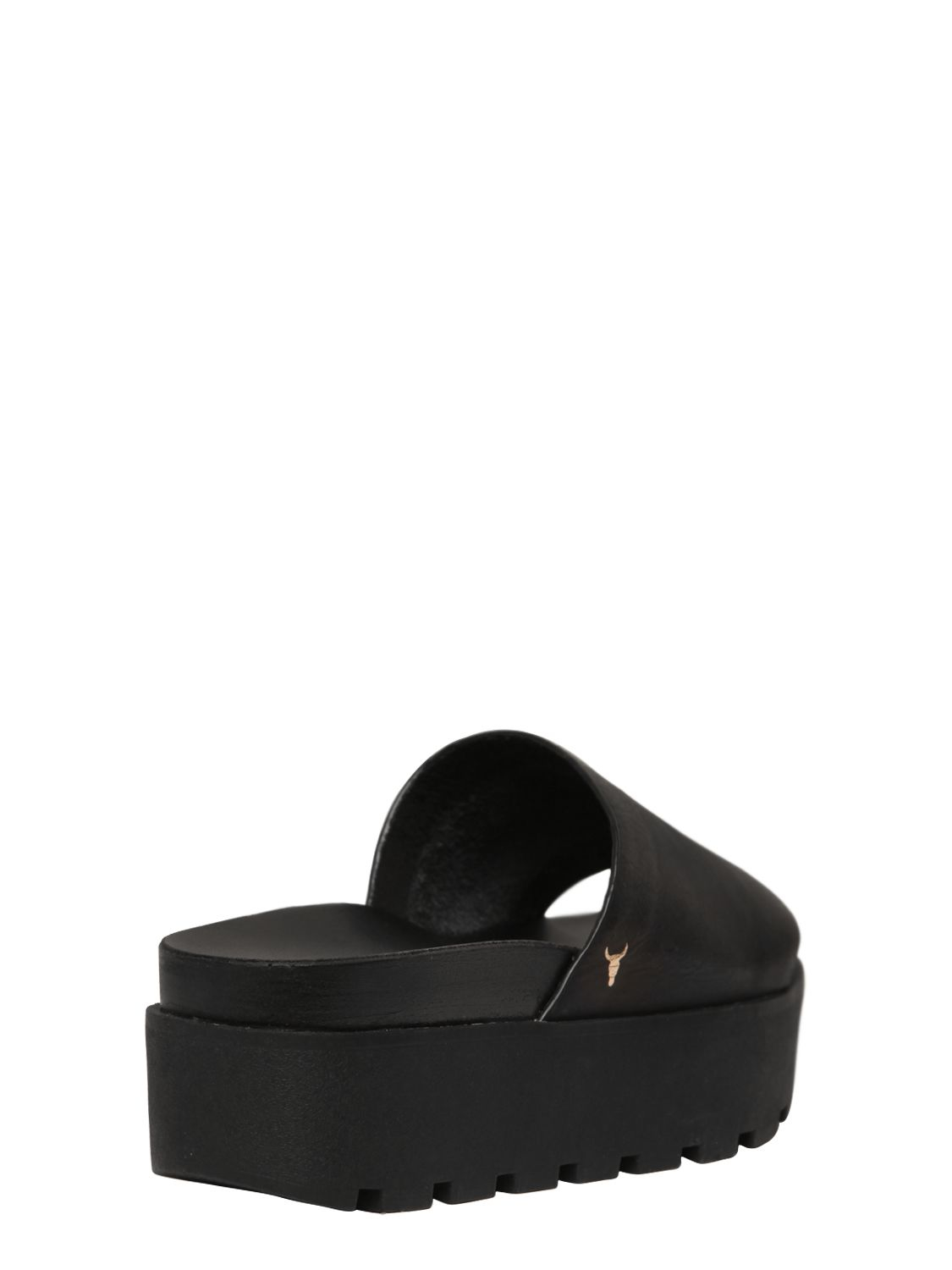 Windsor Smith Leather Platform Slides In Black Lyst