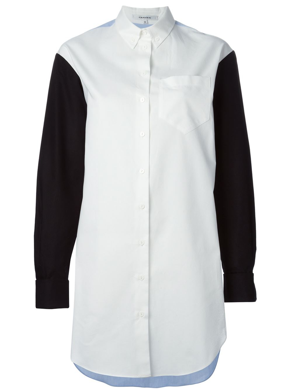 Carven 39 Oxford 39 Shirt Dress In White Lyst