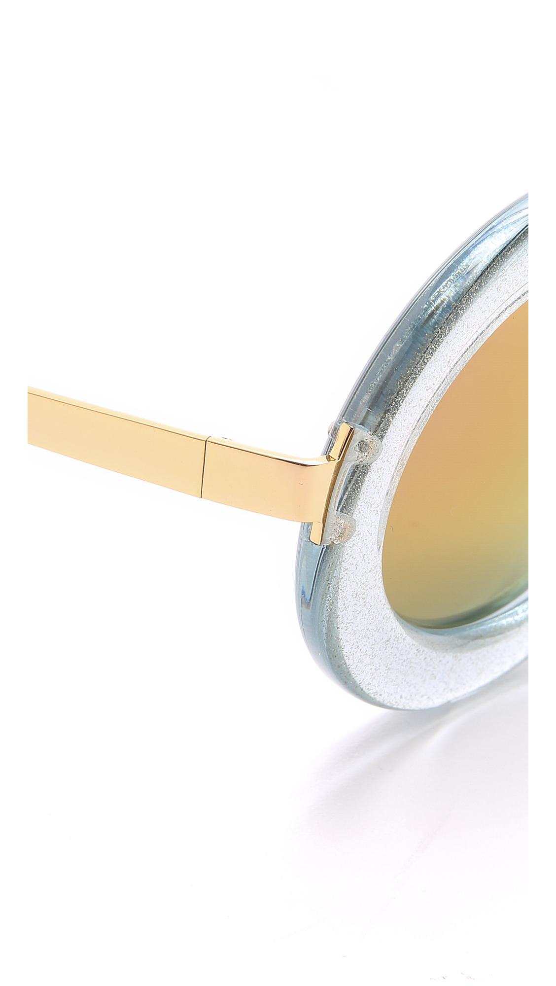 Markus Lupfer Round Revo Sunglasses - Blue/pink in White