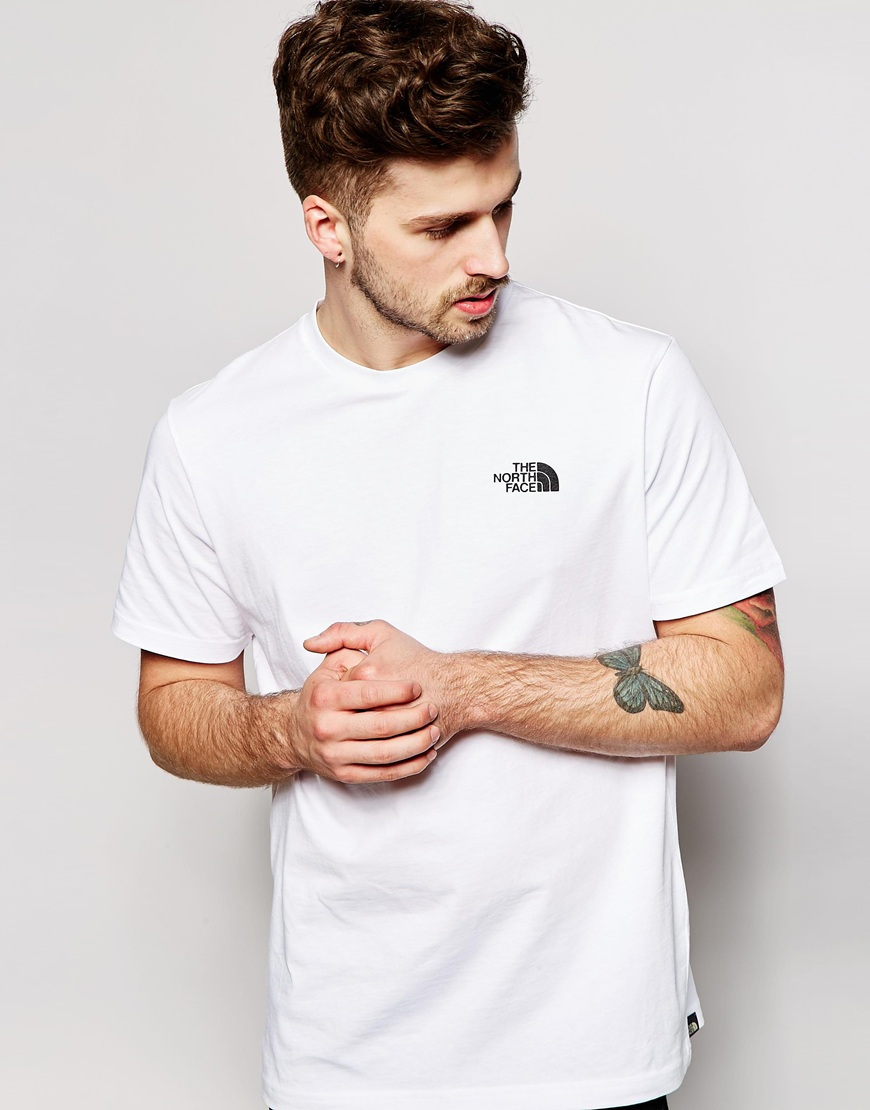 8a5e0257a The North Face White T-shirt With Red Box Logo for men