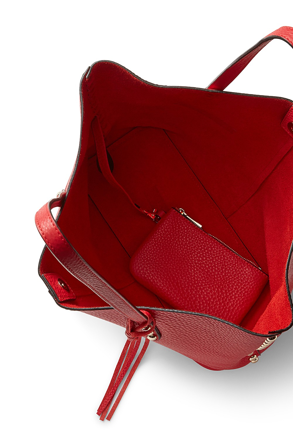 Rebecca Minkoff Leather Unlined Tote in Cherry (Red)