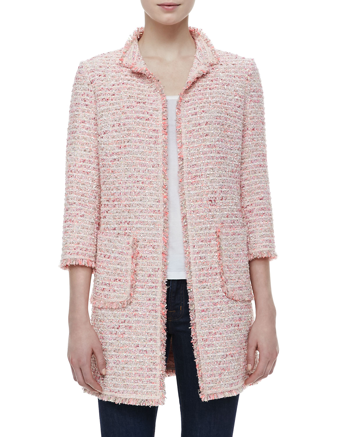 Find pink boucle jacket at ShopStyle. Shop the latest collection of pink boucle jacket from the most popular stores - all in one place.