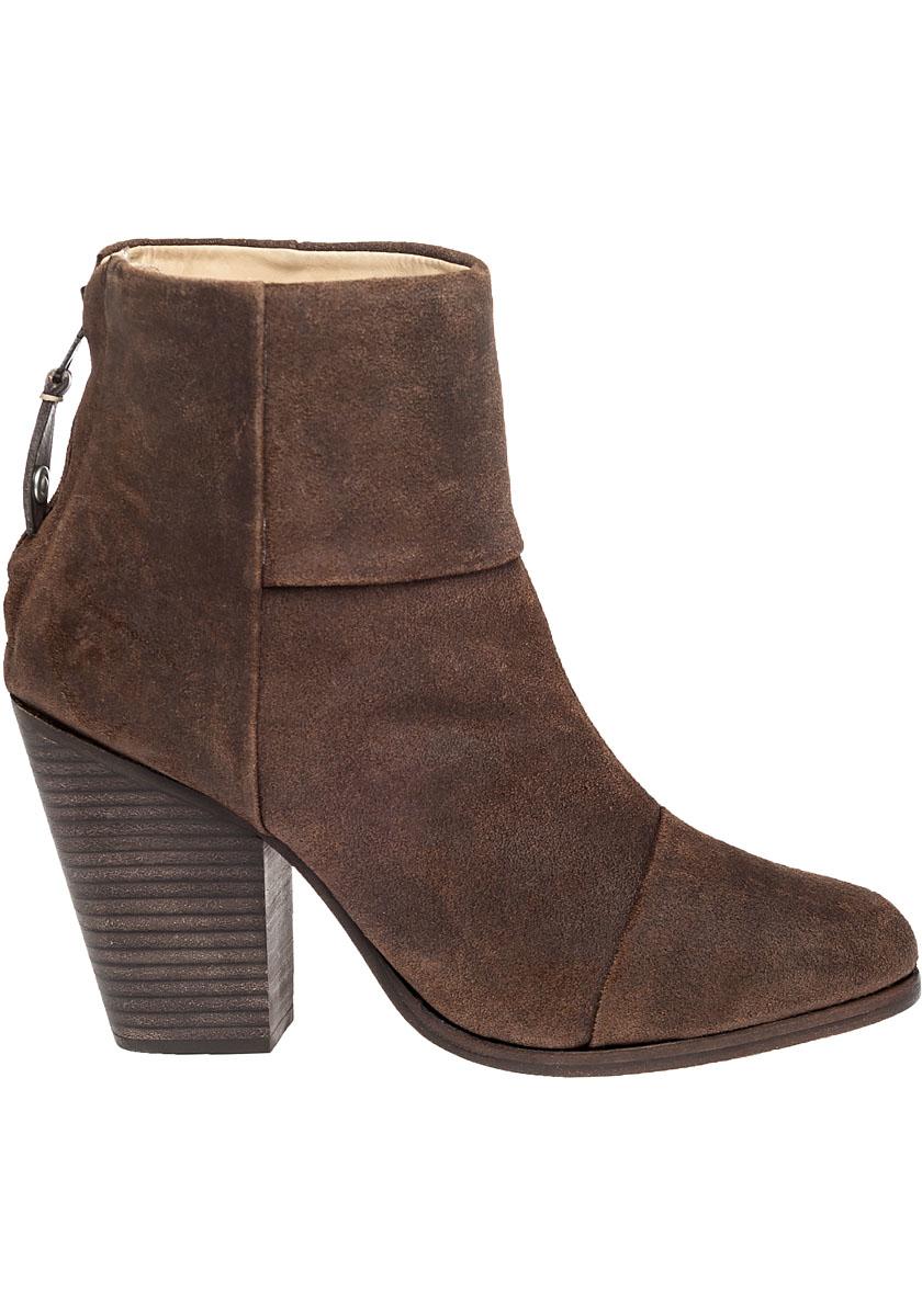 Lyst Rag Amp Bone Newbury Suede Boots In Brown