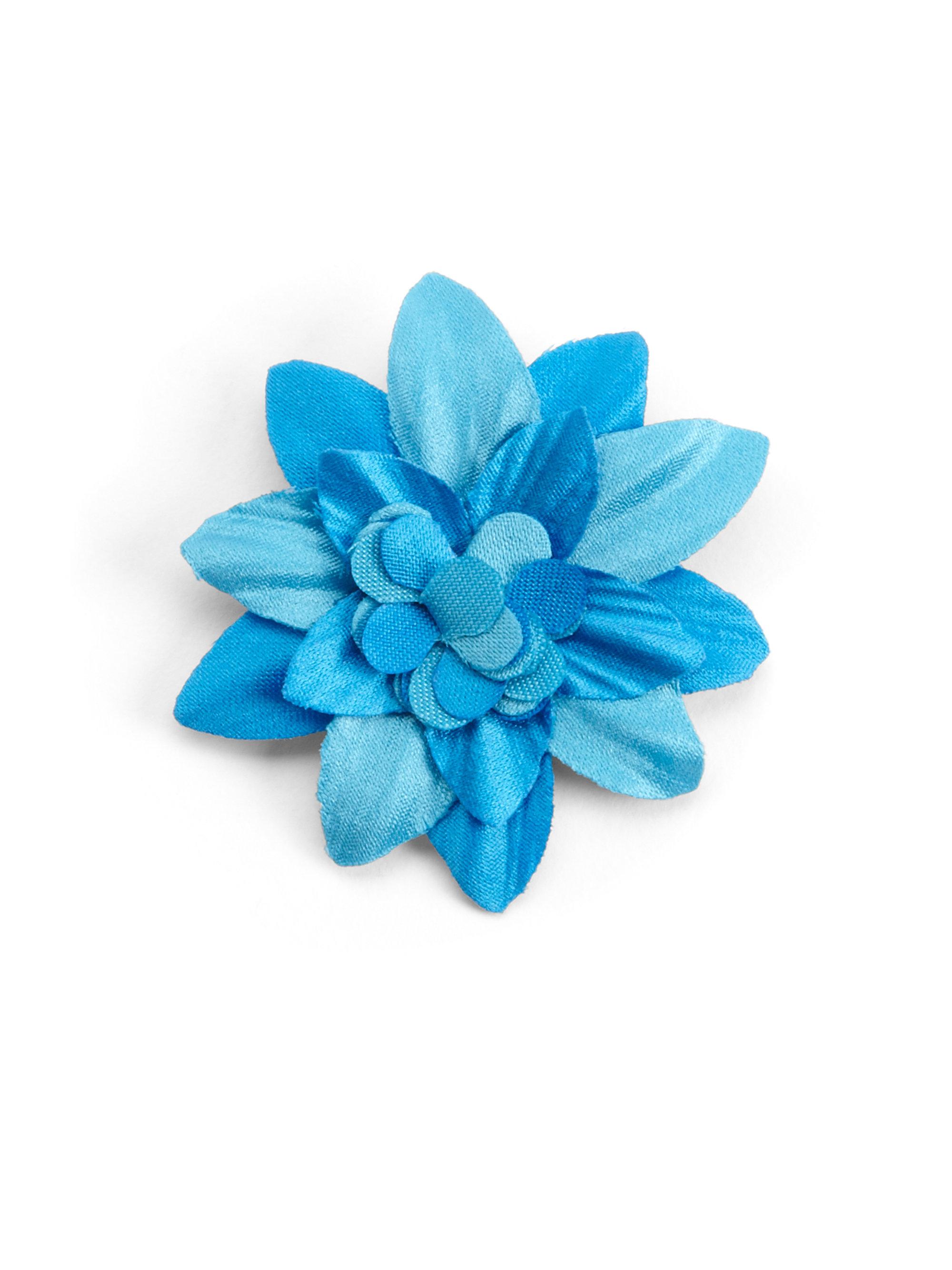 Hook albert Lapel Flower Pin in Blue ORANGE