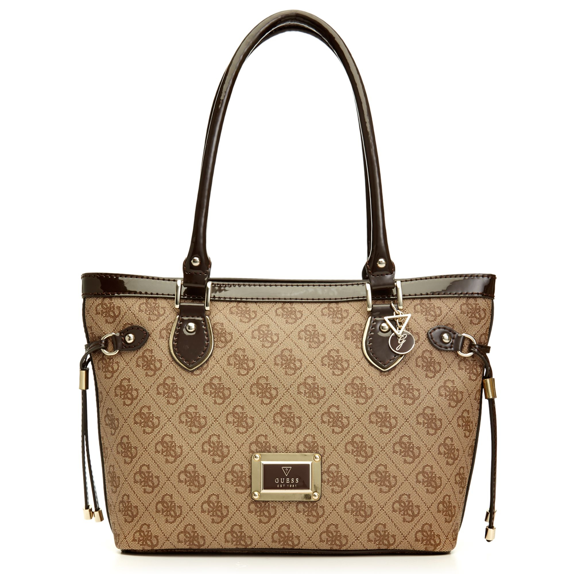 Lyst Guess Guess Handbag Reama Small Classic Tote In Brown