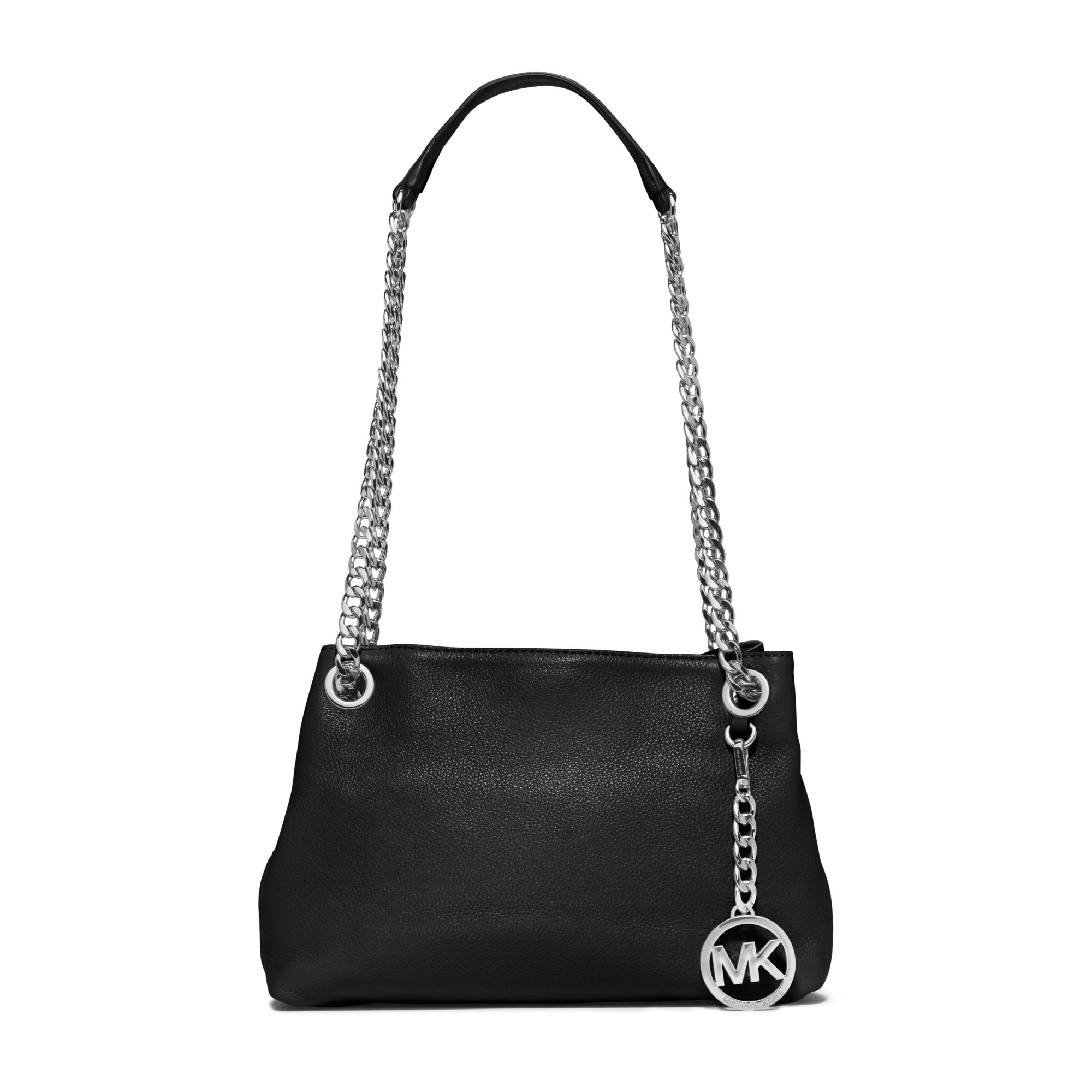 dd7e44ad7ffa ... inexpensive lyst michael kors jet set medium leather messenger in black  6185d 5bcf6
