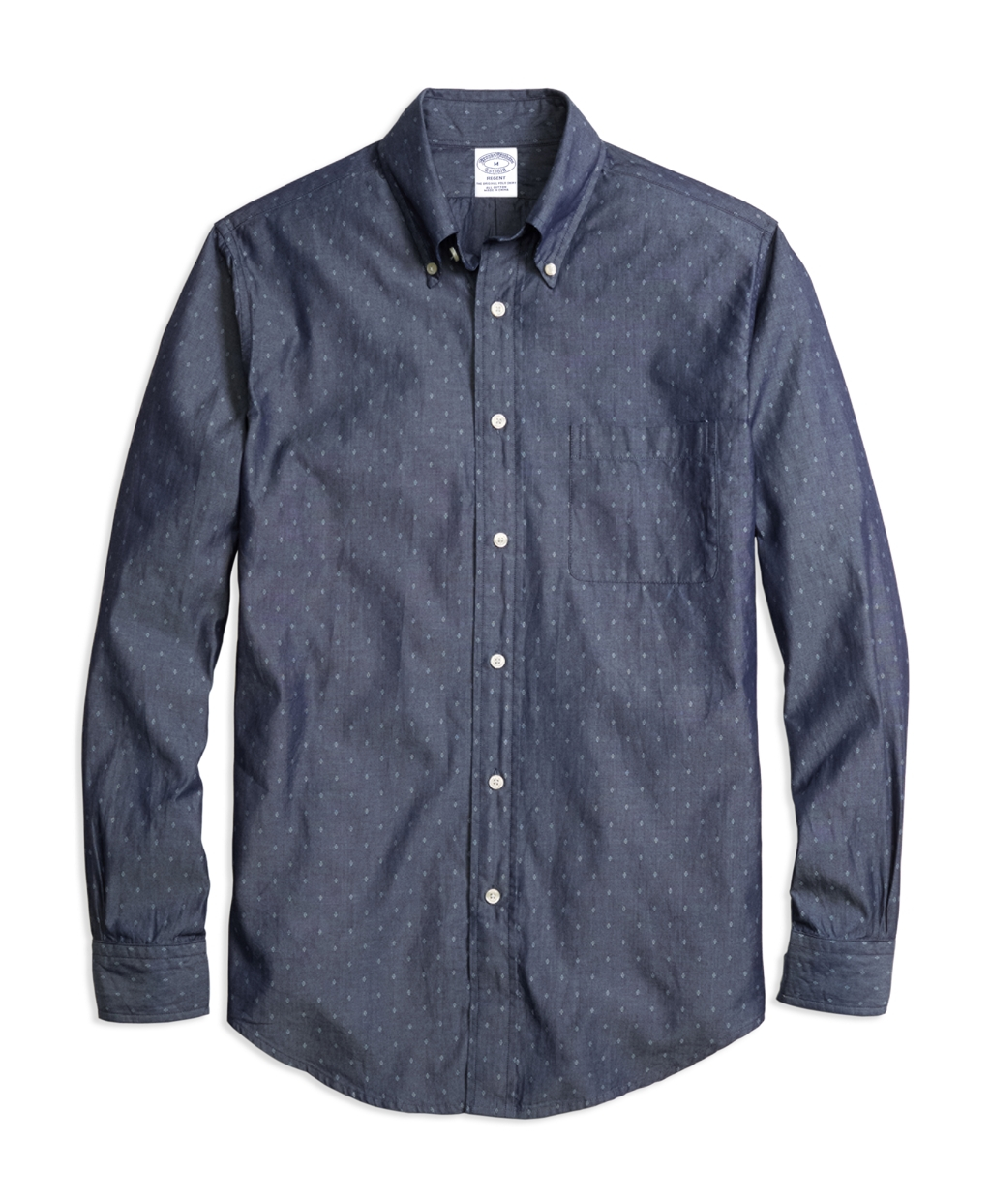 Brooks brothers milano fit dobby sport shirt in blue for for Brooks brothers sports shirts
