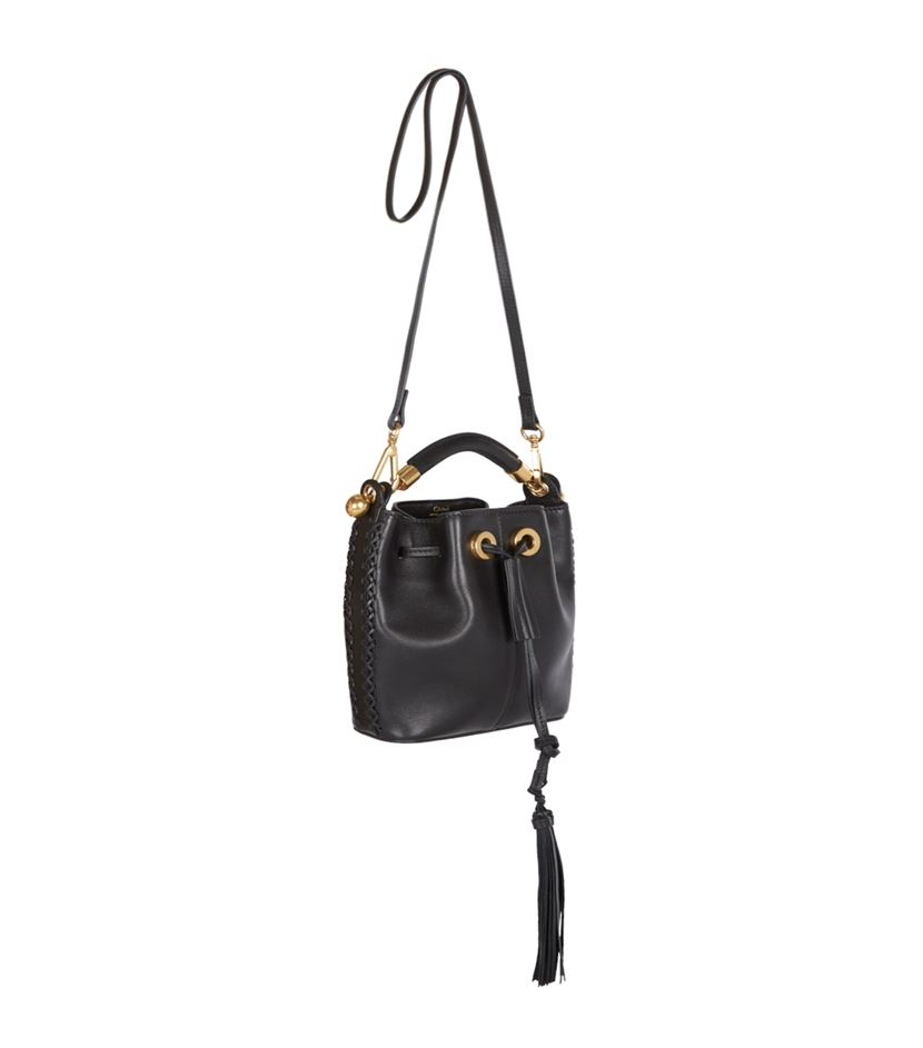 chloe wallets and purses - small gala bucket bag in smooth white calfskin