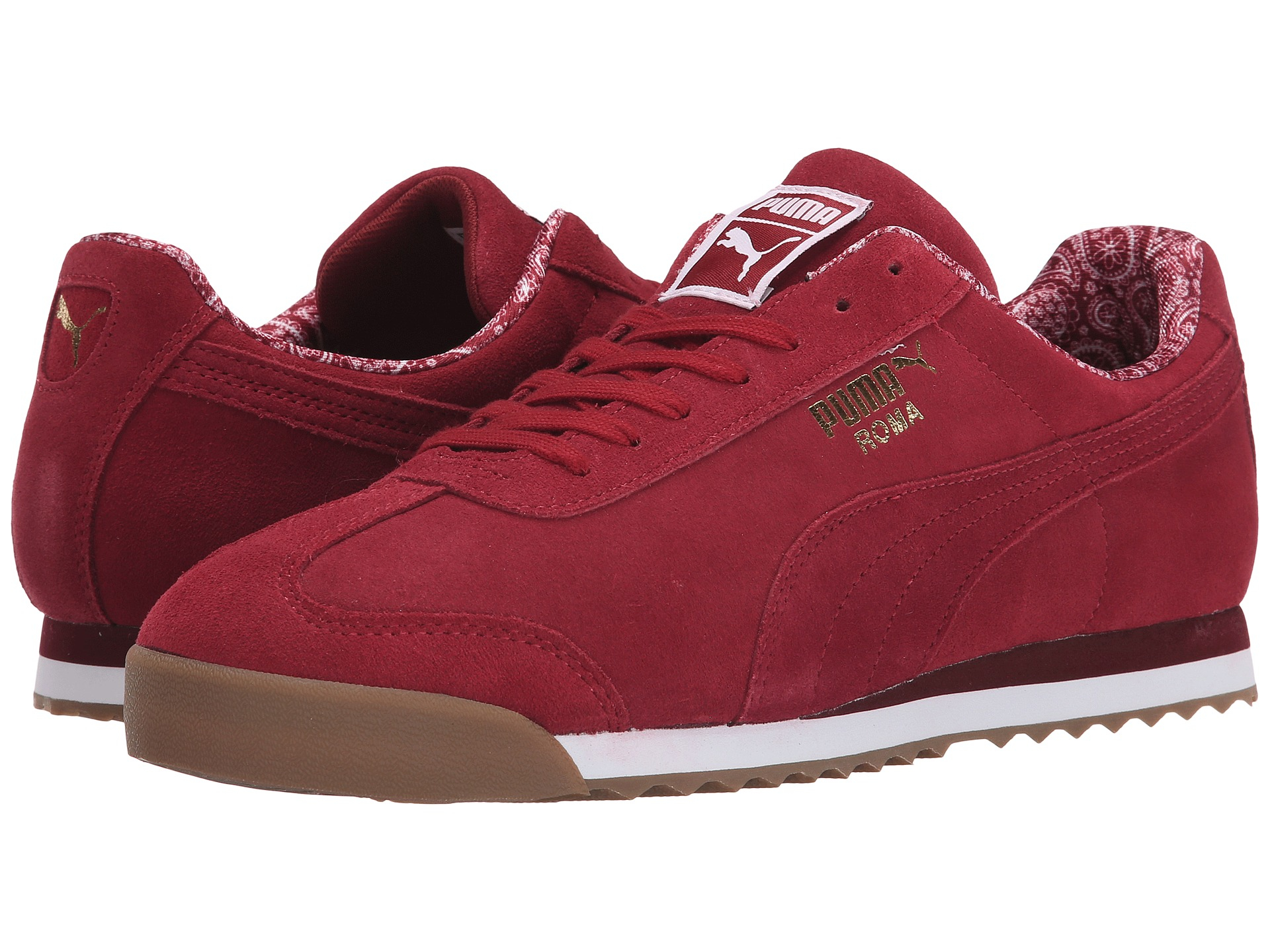 afe299be PUMA Red Roma Suede Paisley