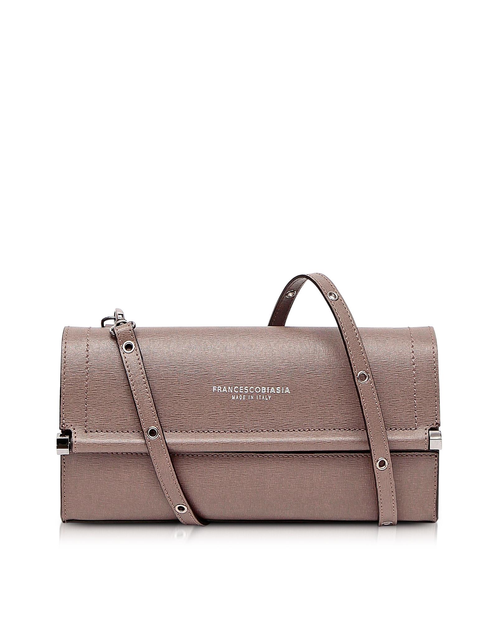 Francesco Biasia Brown Narciso Genuine Leather Shoulder Bag Lyst